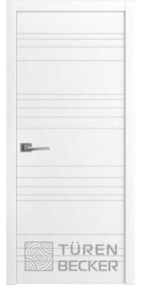 Межкомнатная дверь Соммер ПГ белая эмаль - Turen Becker (Тюрен Беккер)