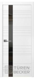 Соммер ПО (стекло - черный лакобель) белая эмаль