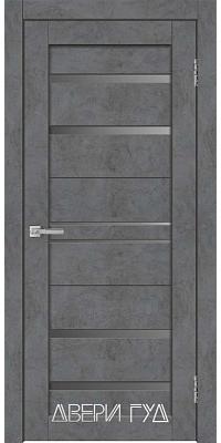 Межкомнатная дверь X-23 ПО - Бетон графит
