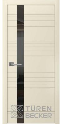 Межкомнатная дверь Соммер ПО (стекло - черный лакобель) латте - Turen Becker (Тюрен Беккер)