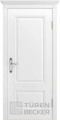 Межкомнатная дверь ВЕНЕЦИЯ В1 ПГ белая эмаль - Turen Becker (Тюрен Беккер)