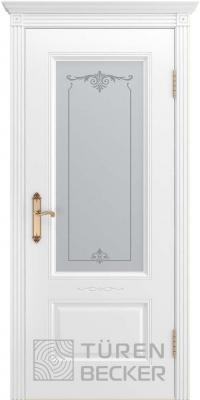 Межкомнатная дверь ВЕНЕЦИЯ В1 ПО белая эмаль - Turen Becker (Тюрен Беккер)
