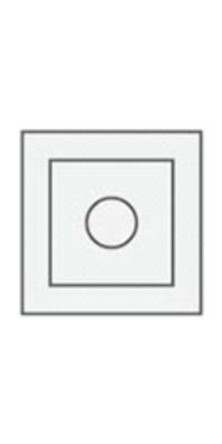 Декор (розетка) телескоп. (1 шт.) серый камень, латте, белая эмаль, слоновая кость - Turen Becker (Тюрен Беккер)