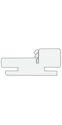 Коробка телескоп. (1 шт.) серый камень, латте, белая эмаль, слоновая кость - Turen Becker (Тюрен Беккер)