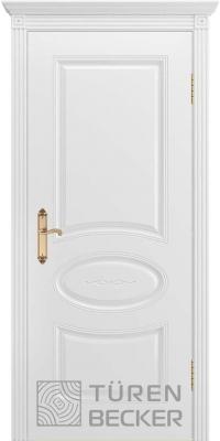 Межкомнатная дверь ПРОВАНС В1 ПГ белая эмаль - Turen Becker (Тюрен Беккер)