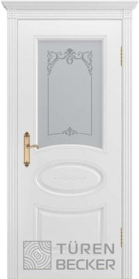 Межкомнатная дверь ПРОВАНС В1 ПО белая эмаль - Turen Becker (Тюрен Беккер)