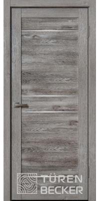 Межкомнатная дверь Ханна ПО Life (4 стекла) Дуб грей - Turen Becker (Тюрен Беккер)