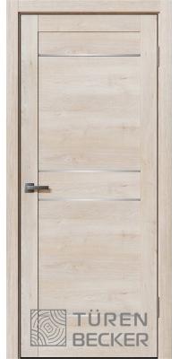 Межкомнатная дверь Ханна ПО Life (4 стекла) Дуб седой - Turen Becker (Тюрен Беккер)